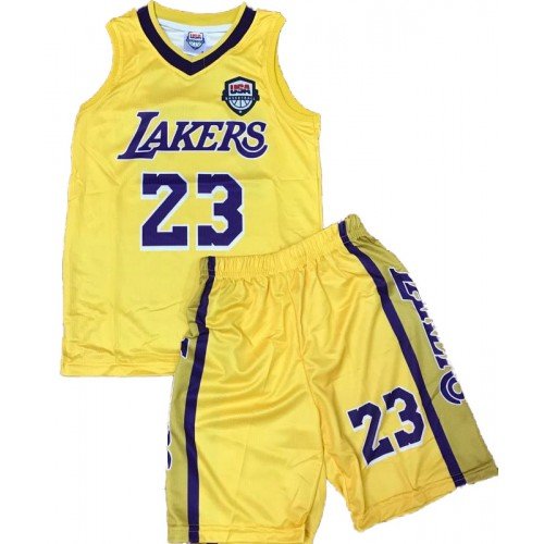 ATHLORAMA ΣΕΤ ΜΠΑΣΚΕΤ ΠΑΙΔΙΚΟ LAKERS JAMES 885LKRS001NAM700JAMES-YELLOW Κίτρινο