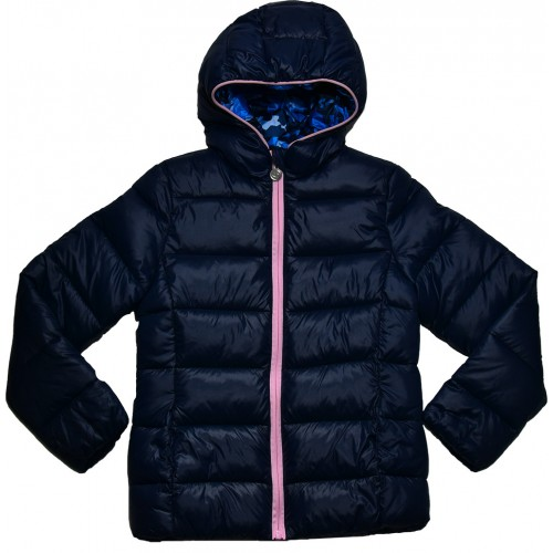 4618908d0fd Champion Girl Hooded Jacket Navy Blue 403360-BS505